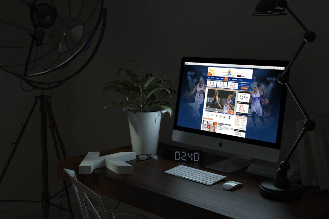 Site Internet des Basketteuses de Lattes Montpellier Agglomération